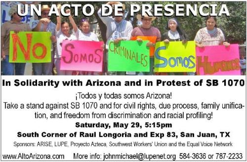 Day of Action against SB 1070, 5-29-10