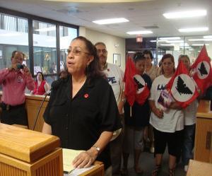 Juanita Valdez-Cox receives recognition