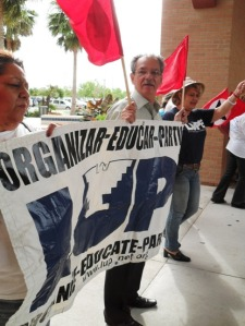 LUPE members denounce CBP policy that separates families during evacuation