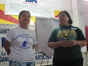 Martha Sanchez and Ramona Casas train LUPE and ARISE leaders in the Equal Voice Networker's Mi Voto=Mi Voz Campaign