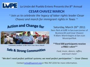 Cesar Chavez Day Rio Grande Valley Event Flyer
